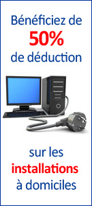 installation informatique 50% deduction fiscal et credit d'impots